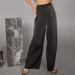 NWT CaraxNastygal collab: Metallic Wide-Leg Pants